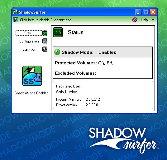 ShadowSurfer provides a safe, secure and private way to use the internet while keeping your PC clean. Surf the internet without a trace, eliminate spyware, avoid viruses and worms, test games or trialware, undo malicious or unwanted system changes.